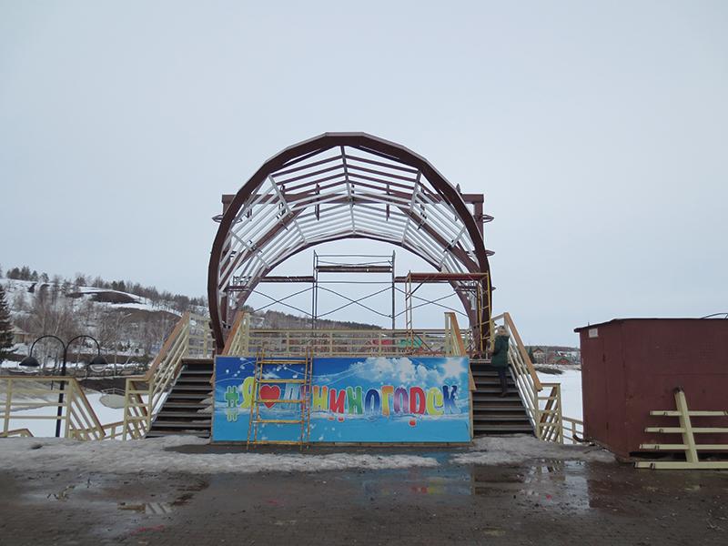 Навес над сценой в г. Лениногорске